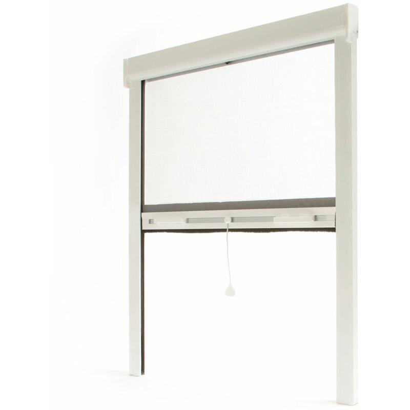 Avosdim - Store moustiquaire enroulable fenêtre LUXE ALU Blanc - L1500 x H1600mm