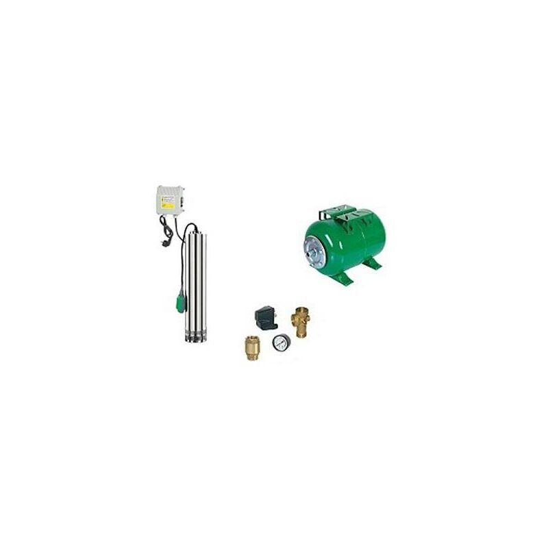 Ribimex - Surpresseur en Kit Pompe Immergée 750 W - 4 Turbines Réservoir