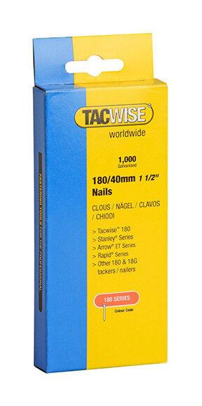 TACWISE Boîte de 1000 clous en acier galvanisé en bande de type 180 L. 40 mm - TA-0747