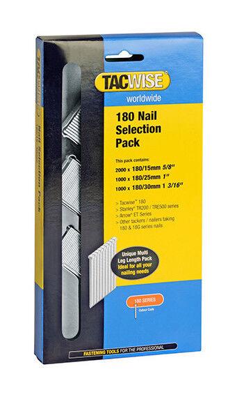 TACWISE Boîte de 4000 clous type 180 L. 15/25/30 mm - TA-0205 - - Tacwise