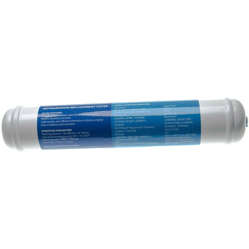 VHBW Filtre à eau cartouche compatible avec Bosch KAN60A40TI/08, KAN60A40TI/09,