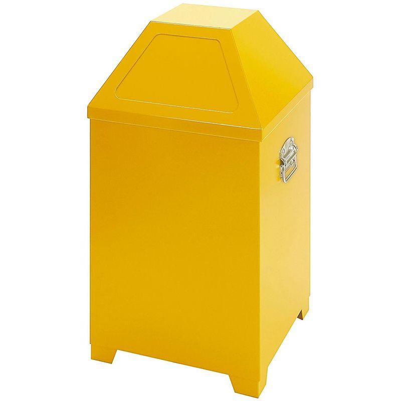 CERTEO Collecteur de déchets, avec 2 trappes de dépôt, jaune - Coloris poubelle: jaune