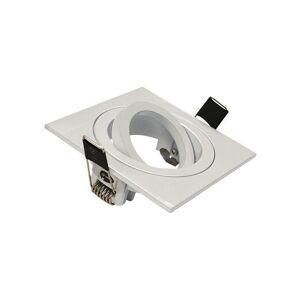 Vision-el - Support Spot LED Orientable et clipsable Carré 88 Finition Blanc - Publicité