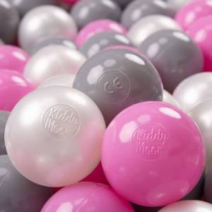 KiddyMoon 100 ? 7Cm Balles Colorées Plastique Pour Piscine Enfant Bébé Fabriqué - Publicité