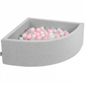 KIDDYMOON 90X30cm/200 Balles Piscine À Balles ? 7Cm Pour Bébé Quart Angulaire Fabriqué En - Publicité