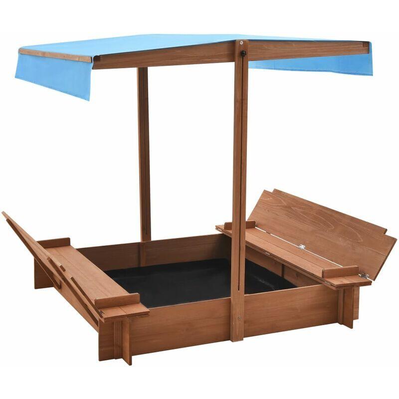 Vidaxl - Bac à sable avec toit Bois de sapin 122x120x123 cm