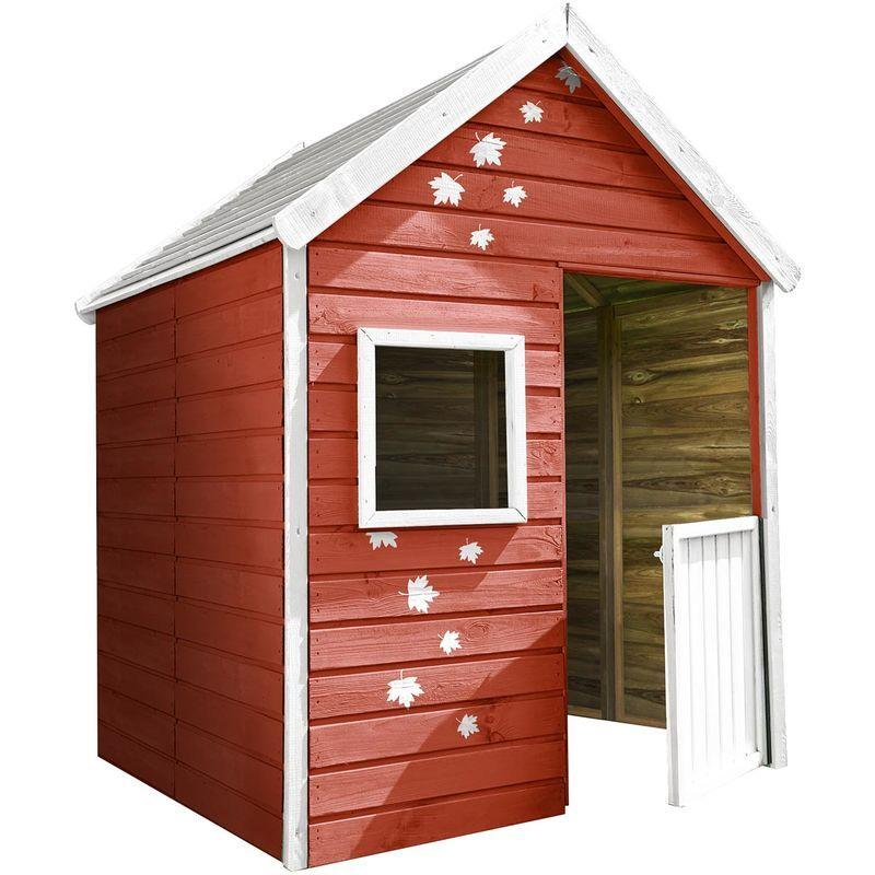 SOULET Petite cabane pré-monté en bois traité avec portillon 3 enfants - Maria