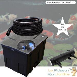 Le Poisson Qui Jardine - Kit Filtration Complet, UV 36W, Pour Bassins De 12000 - Publicité