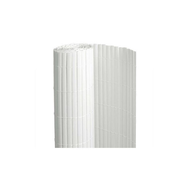 ATOUT LOISIR Canisse en PVC blanc - 90% d'occultation, Long 60 m, Hauteur 1.50 m
