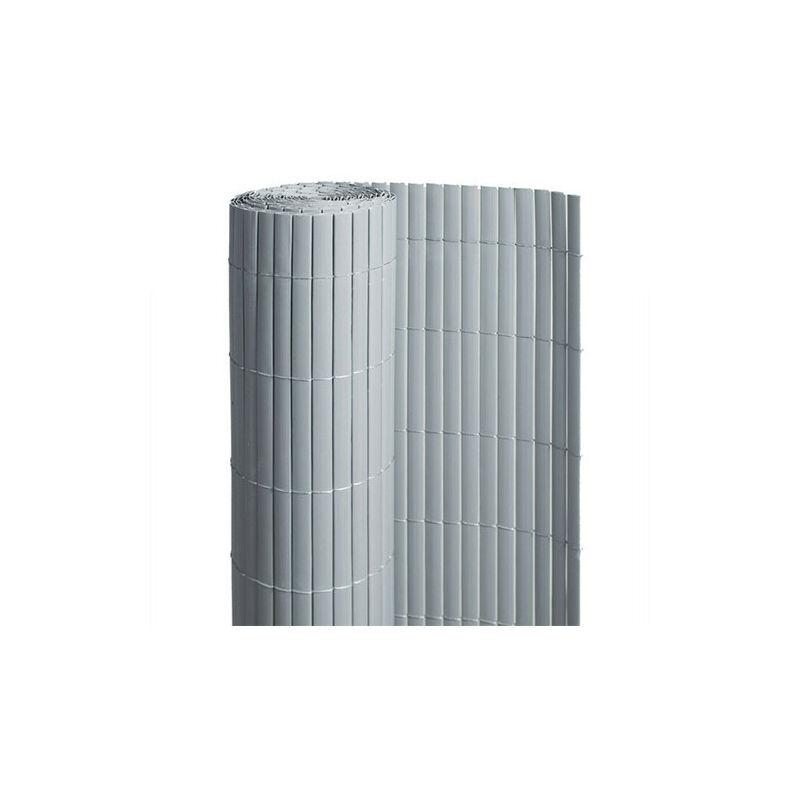 ATOUT LOISIR Canisse en PVC gris - 90% d'occultation, Long 3 m, Hauteur 1.80 m