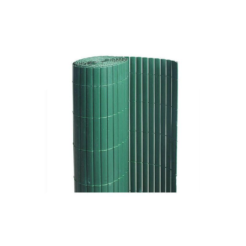 ATOUT LOISIR Canisse en PVC vert - 90% d'occultation, Long 15 m, Hauteur 1 m
