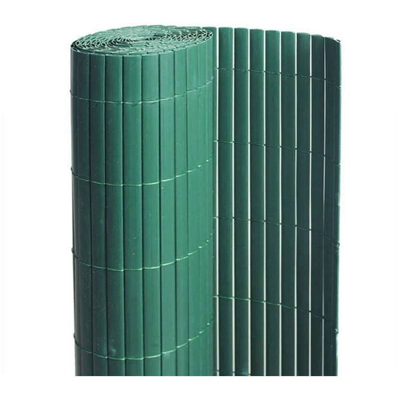 JARDIDECO Canisse PVC double face Vert 6 m - 2 rouleaux de 3 x 1 m - Jardideco