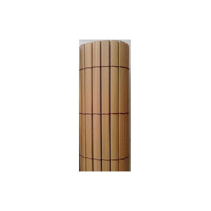 ATOUT LOISIR Canisse PVC imitation teck, Long 15 m, Hauteur 1.80 m