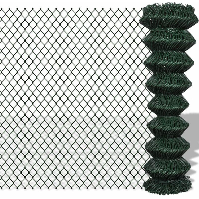 ZQYRLAR Clôture à mailles losangées Acier galvanisé 1,5x15 m Vert