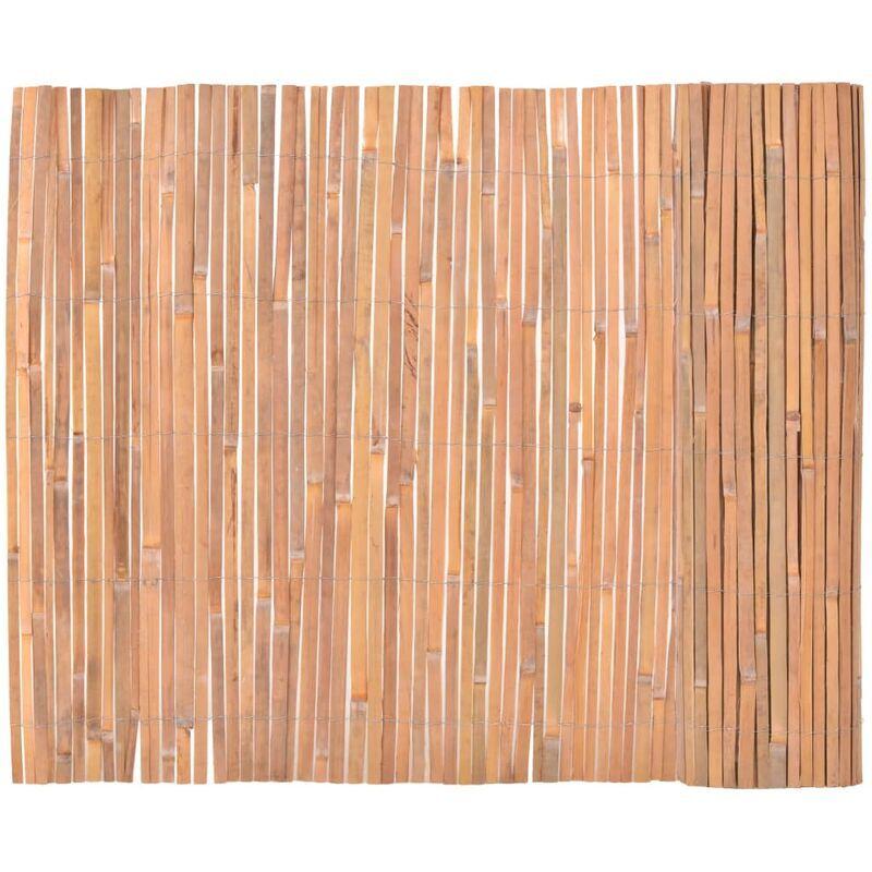 ILOVEMONO Clôture en bambou 100 x 400 cm