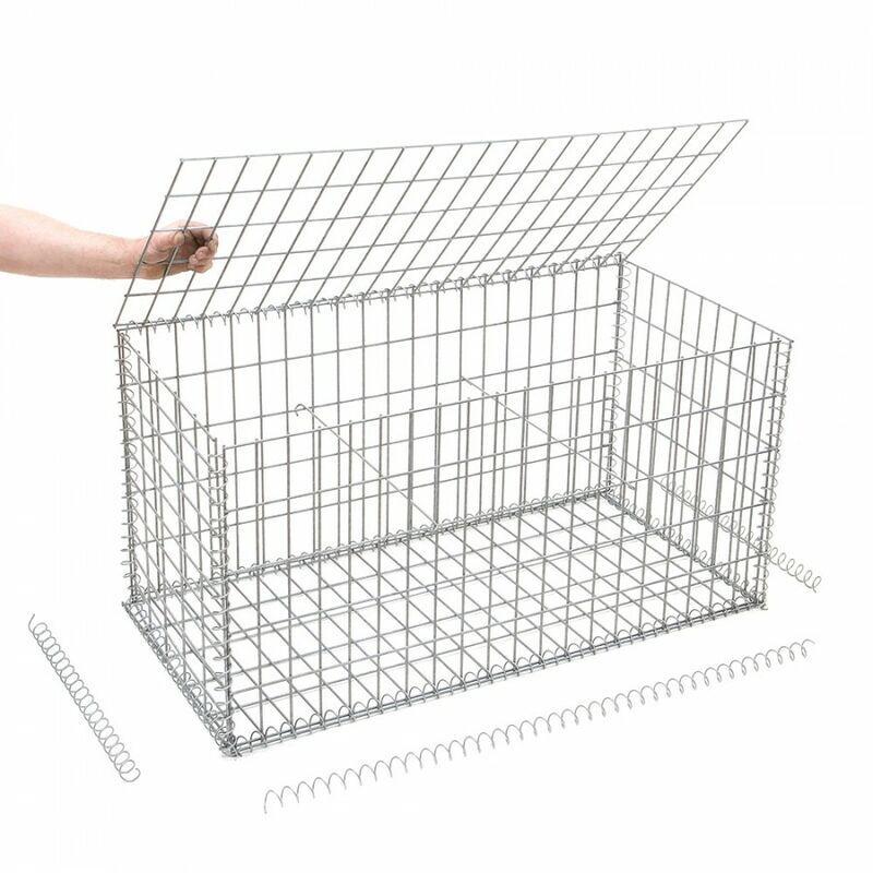 Rinno Gabion - Gabion en kit - 100 cm x 50 cm x 50 cm Maille rectangulaire 50