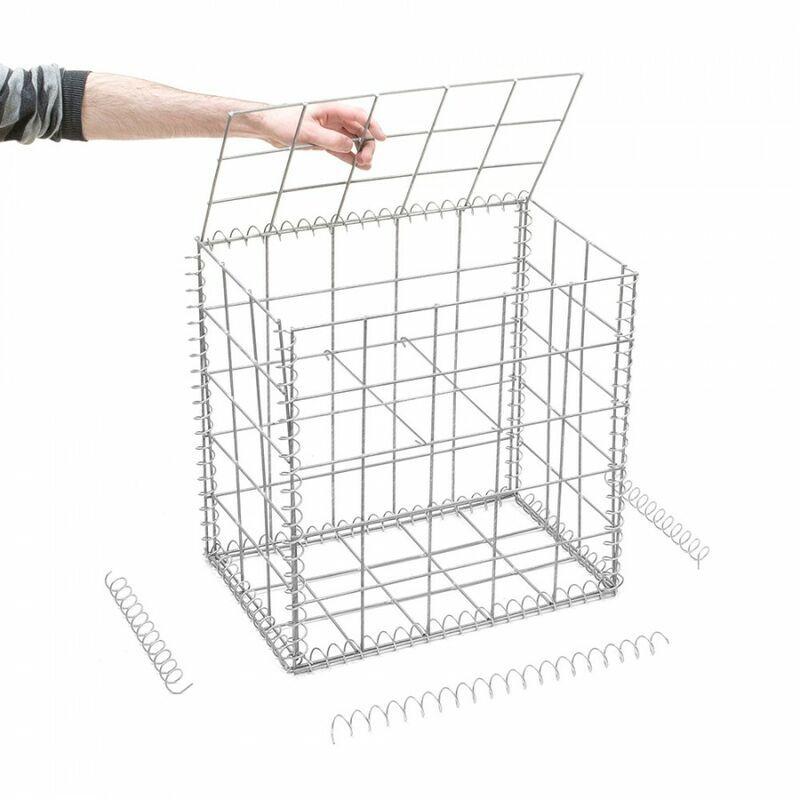 Rinno Gabion - Gabion en kit - 50 cm x 30 cm x 50 cm Maille Carrée 100 mm x 100