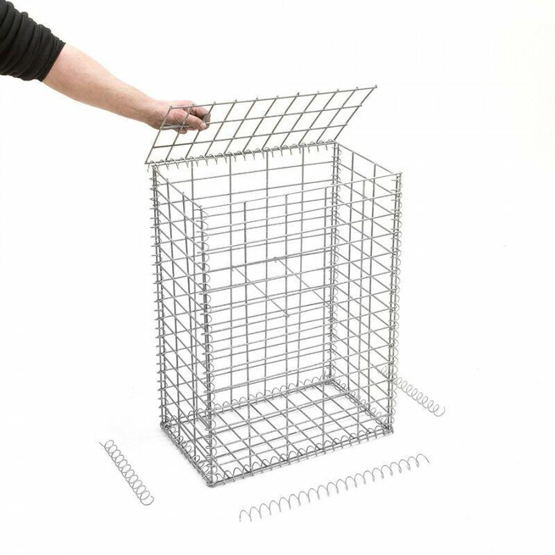 RINNO GABION Gabion en kit - 50 cm x 30 cm x 70 cm Maille rectangulaire 50 mm x 100 mm