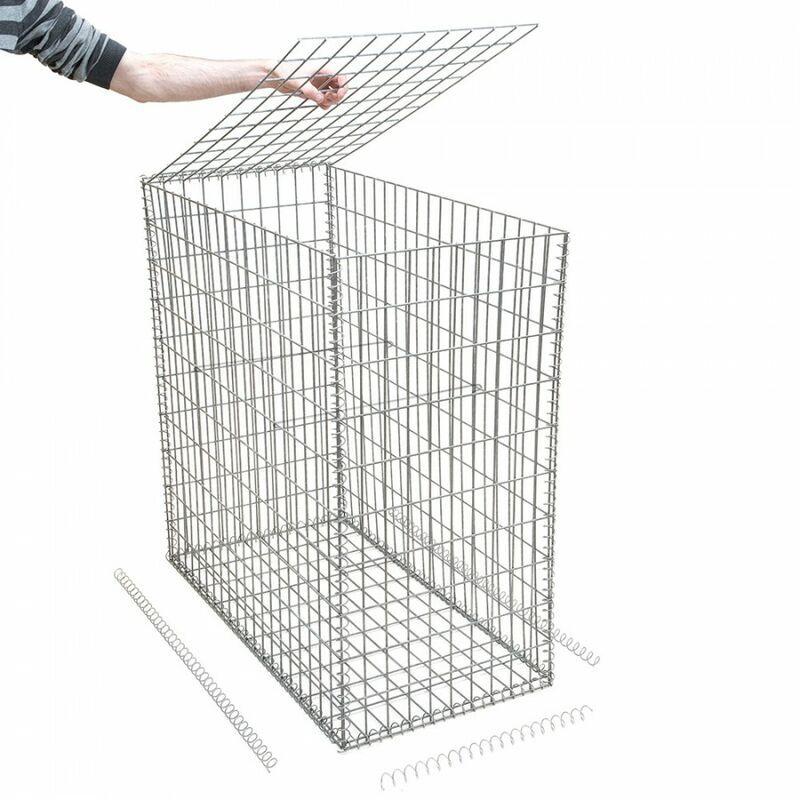 Rinno Gabion - Gabion en kit - 50 cm x 70 cm x 100 cm Maille rectangulaire 50