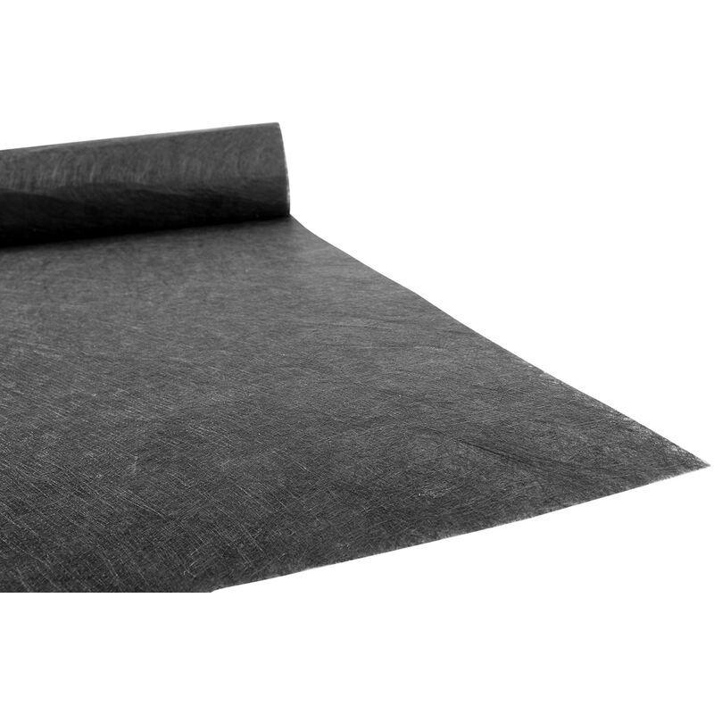 GAZON DU SUD Géotextile 120 Gr Noir Anti-Repousse 1 M X 25 M