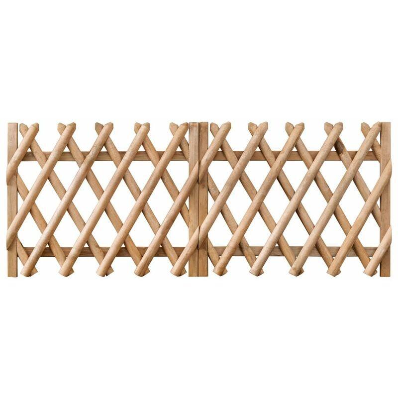 Hommoo Portillons de jardin 2 pcs Bois de pin imprégné 300x80 cm HDV46962