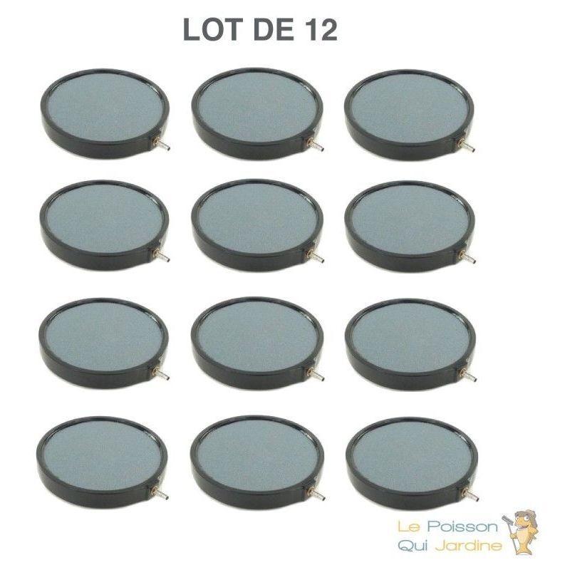 WWW.LEPOISSONQUIJARDINE.FR Lot de 12 diffuseurs d'air Disques 20 cm pour bassins de jardin
