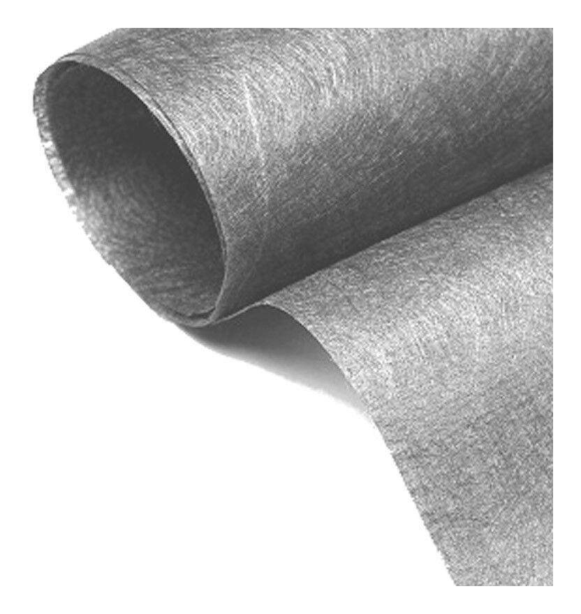 MON GAZON SYNTHÉTI MGS Rouleau de Géotextile gris 120grs 2Mx25M soit 50m2