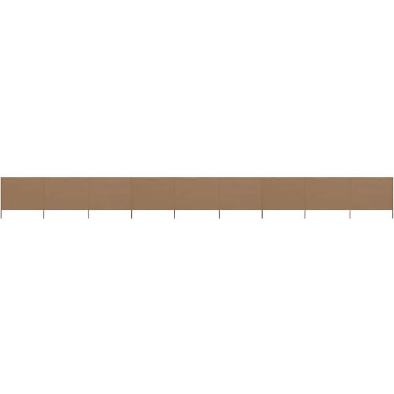 Ilovemono - Paravent 9 panneaux Tissu 1200 x 120 cm Taupe