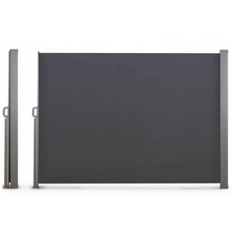 TERRE JARDIN Paravent extérieur rétractable - 2,5 x 1,6 m anthracite - anthracite