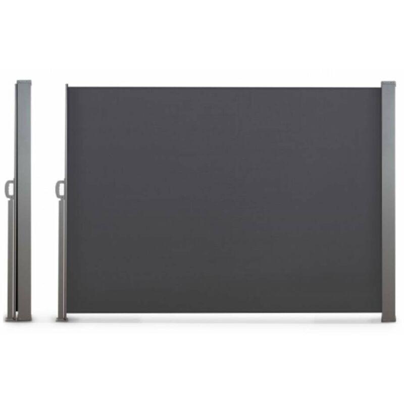 TERRE JARDIN Paravent extérieur rétractable - 2,5 x 1,8 m anthracite - anthracite