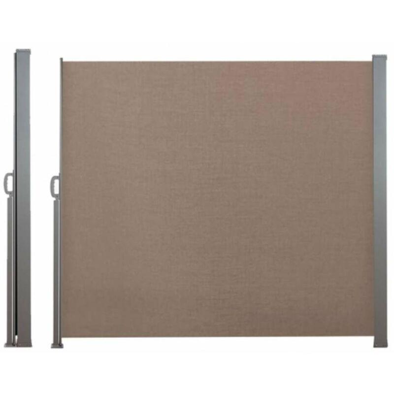 TERRE JARDIN Paravent extérieur rétractable - 2,5 x 1,8 m taupe - taupe