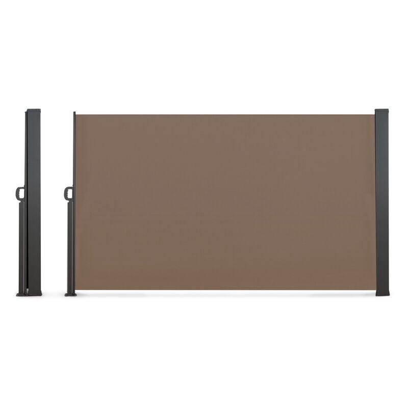IDMARKET Paravent extérieur rétractable 400 x 180 cm taupe store latéral