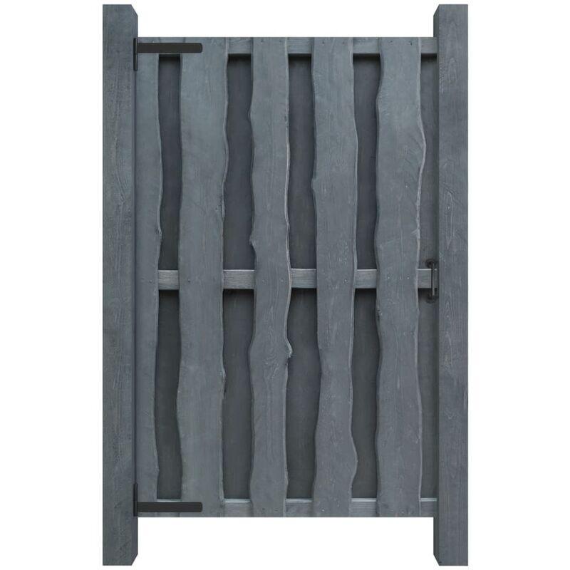 ZQYRLAR Portillon Bois de pin imprégné 100 x 170 cm Gris