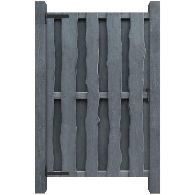 VIDAXL Portillon Bois de pin imprégné 100 x 170 cm Gris