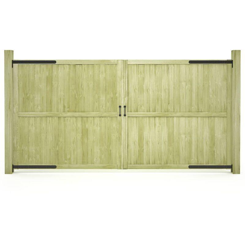 Asupermall - Portillons de jardin 2 pcs Bois de pin impregne 300x150 cm