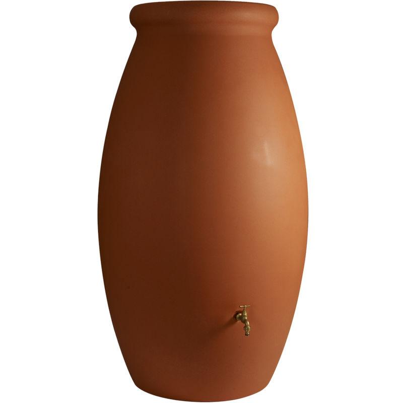 BELLIJARDIN Récupérateur d'eau de pluie Jarre 500 L couleur terre cuite + Kit raccord