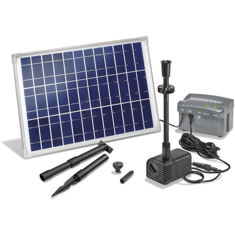 Esotec - Pompe solaire de bassin avec batterie rechargeable Pompe solaire 20W