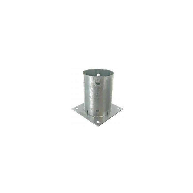 SUD BOIS Support pied de poteau rond 140mm (14cm) à fixer galvanisé à chaud