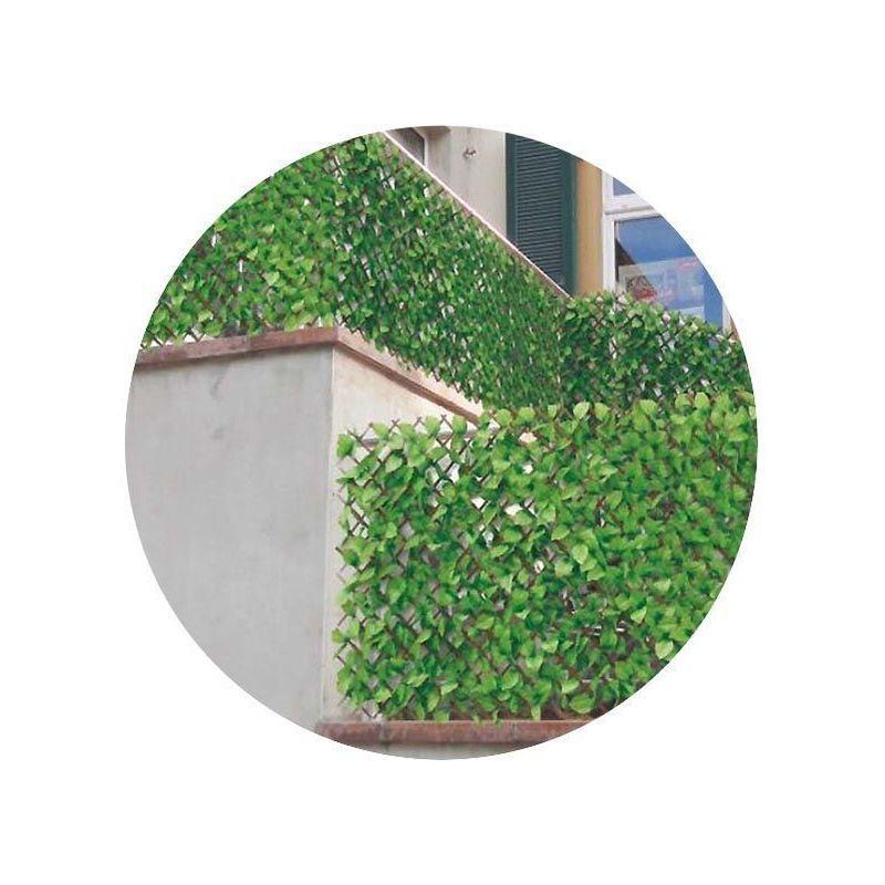 Jet7garden - Treillis en bois de saule et feuilles de rosier artificielles