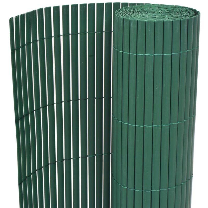 TRUE DEAL Clôture de jardin Double face PVC 90 x 500 cm Vert - True Deal