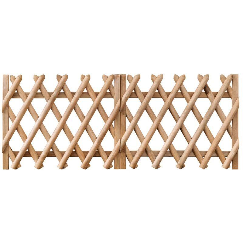 TRUE DEAL Portillons de jardin 2 pcs Bois de pin imprégné 300x80 cm - True Deal