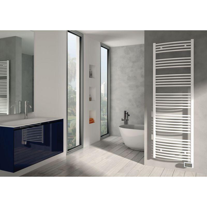 ALTERNA Radiateur sèche-serviettes électrique Ondeo 1868 x 593 mm blanc 1200 W