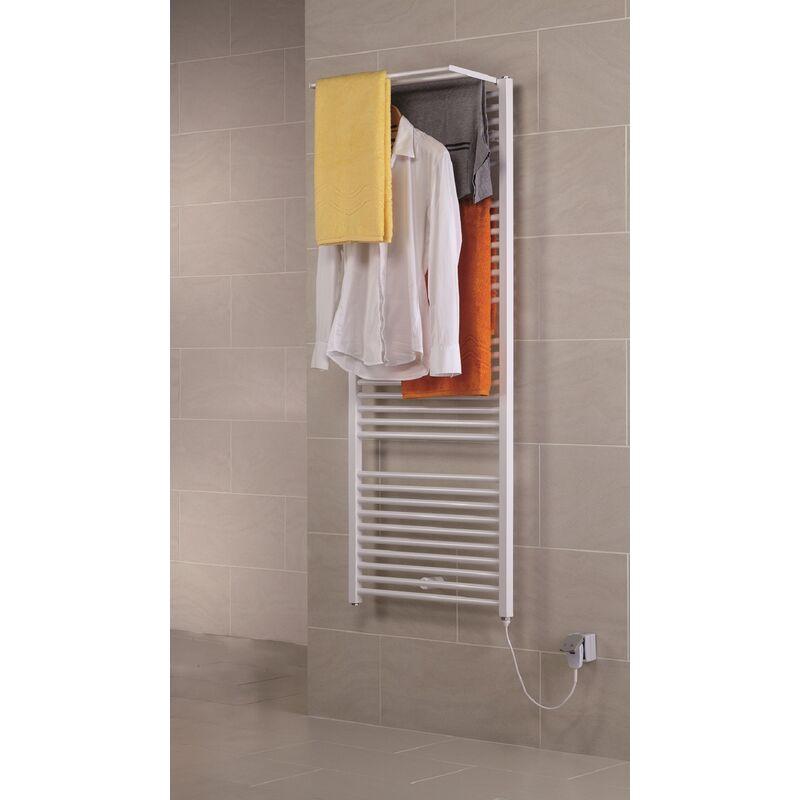 SCHULTE Radiateur à eau chaude Turbo, avec étendoir pivotant, sèche-serviette