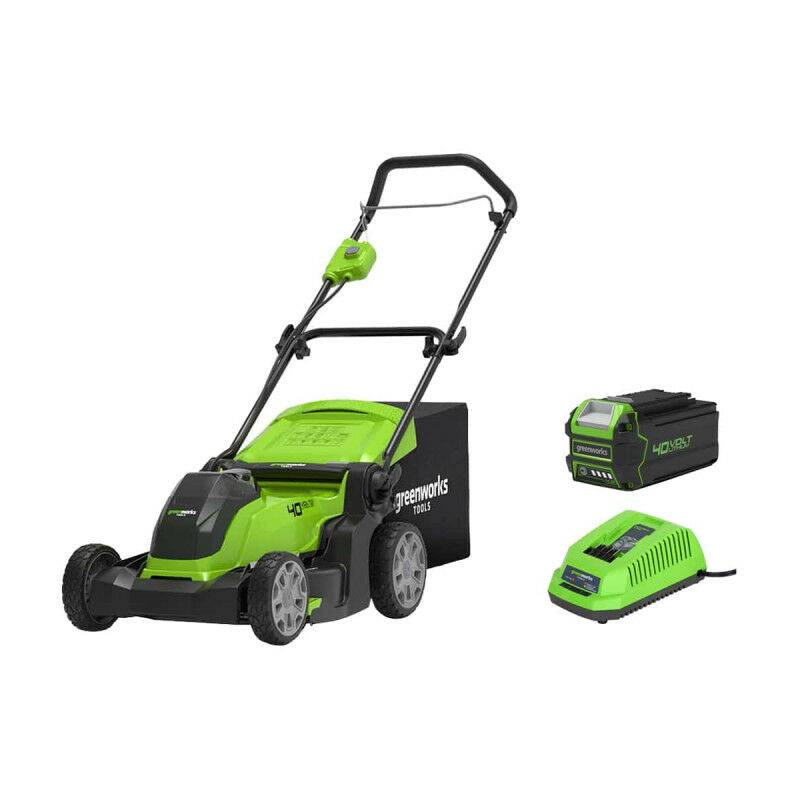 Tondeuse GREENWORKS 40V – Coupe de 41cm – 1 batterie 4.0 Ah – 1 chargeur – G40LM41K4