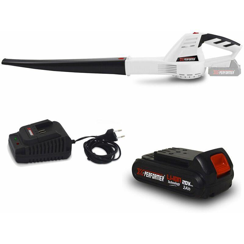 Souffleur rechargeable à batterie XPSE20LI – Vitesse air max : 200 km-h – Batterie 2 Ah et chargeur – X-performer