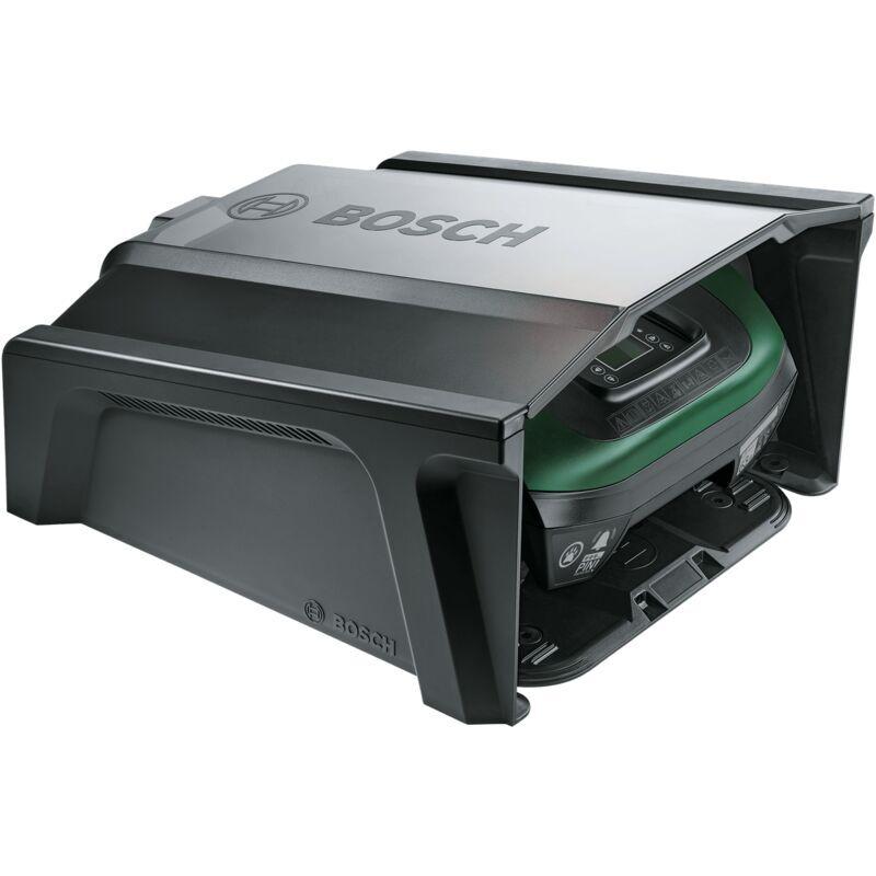 Garage pour tondeuse robot Bosch – Indego 350/400 (Noir, 275 x 500 x 510 mm)