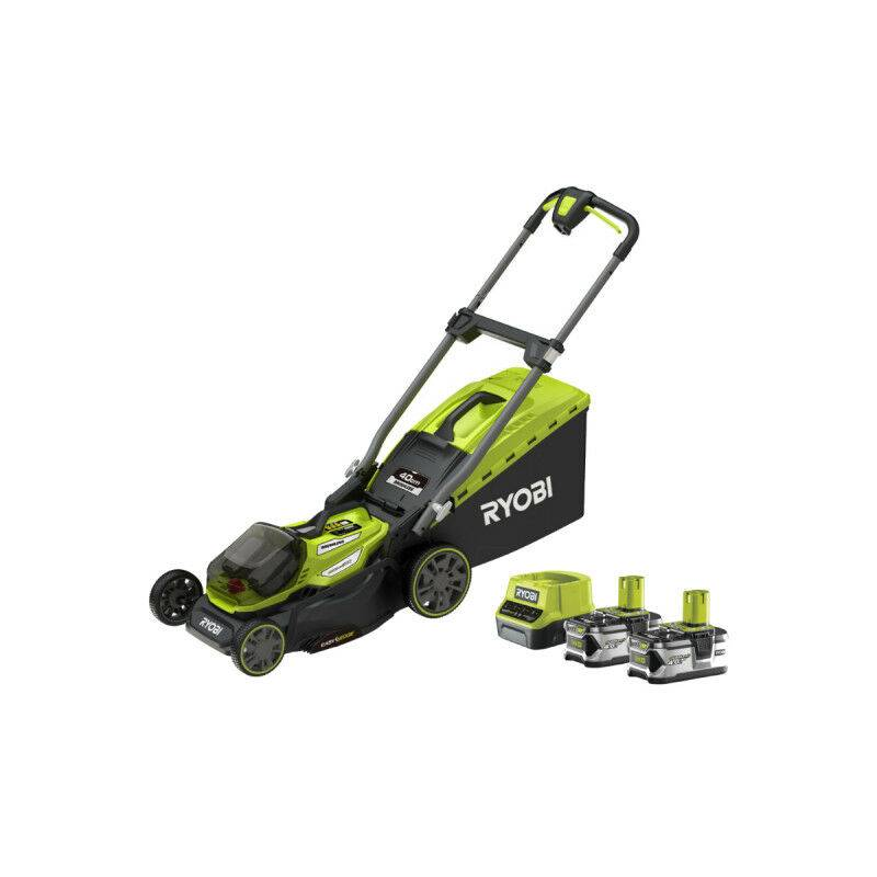 Tondeuse RYOBI 18V LithiumPlus Brushless – coupe 40cm – 2 batteries 4,0 Ah – 1 chargeur rapide – RY18LMX40A-240