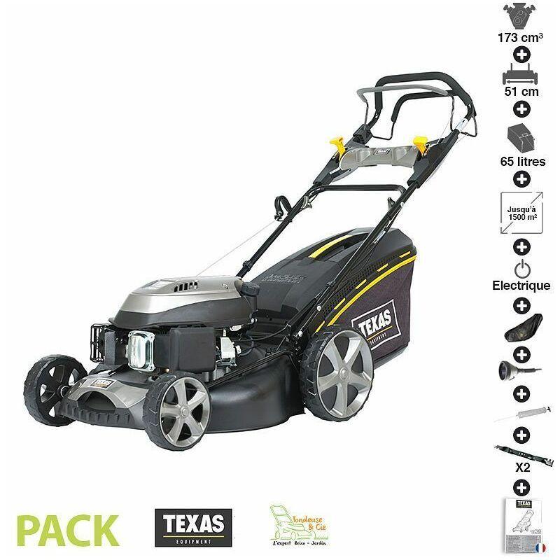 Texas - Tondeuse thermique tractée 173 cc 4,3cv démarrage électrique 51cm coupe