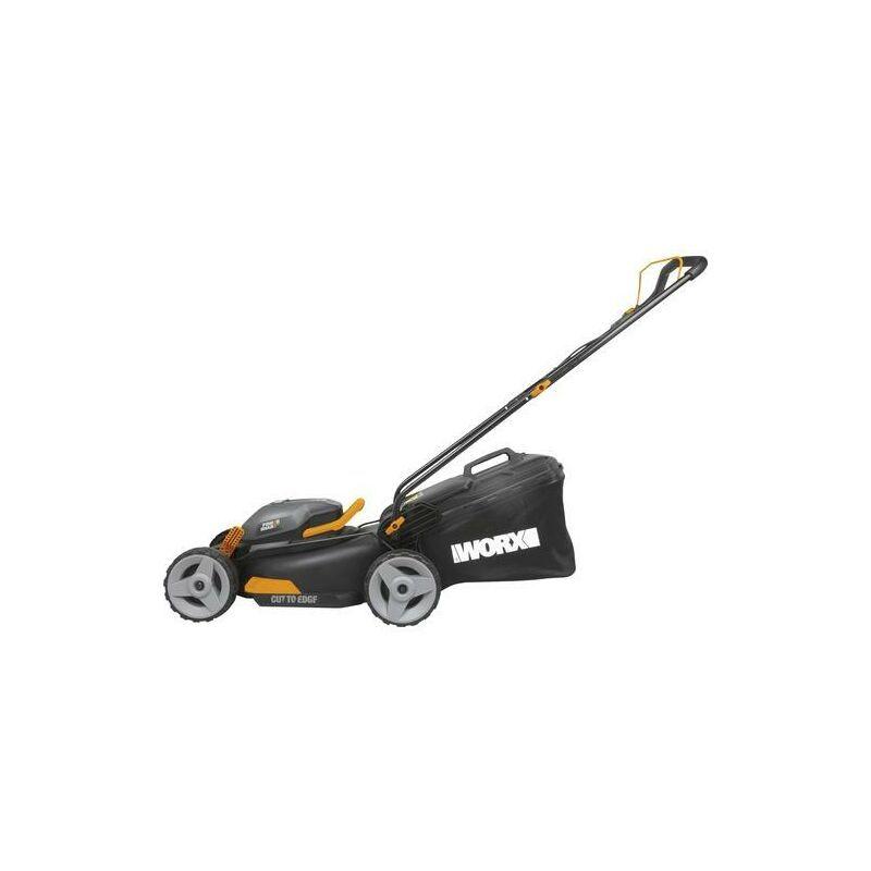 WORX WG743E WG743-Mower (40 cm, 2 x 20 V/4,0 Ah Li-Ion batteries)