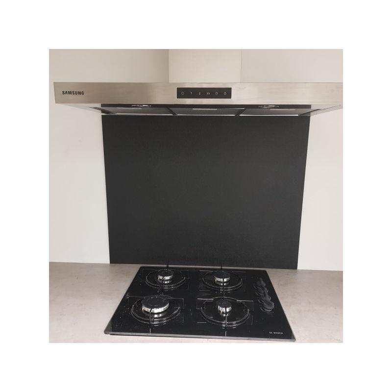 ALUCOULEUR Crédence Composite Aluminium aspect Noir Marbré - Hauteur 35 cm x Largeur 90 cm